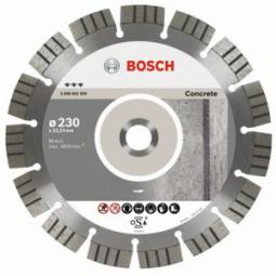 Купить Диск отрезной алмазный для угловых шлифмашин Bosch Best for Concrete 2608602656