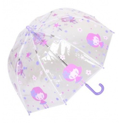 Купить Зонт-трость детский Isotoner 09390. Рисунок: фея