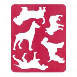 фото Трафарет пластиковый Луч «Породы собак». В ассортименте