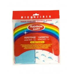 фото Комплект из полотенца и салфетки Rainbow home «Дельфин»