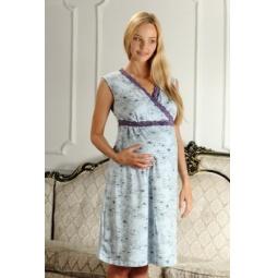 Купить Сорочка для беременных Nuova Vita 208.3. Цвет: голубой