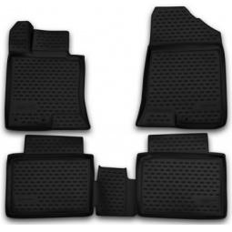 Комплект ковриков в салон автомобиля Novline-Autofamily Honda Jazz 2009. Цвет: черный - фото 8