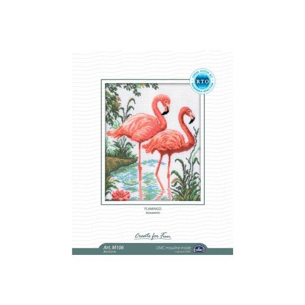 фото Набор для вышивания RTO «Фламинго»
