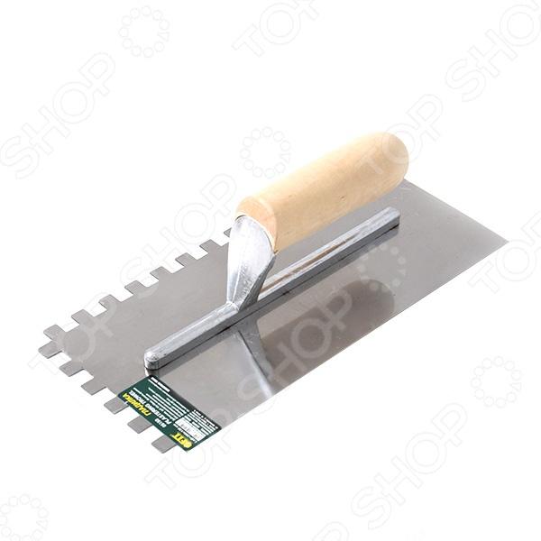 Гладилка FIT ПрофиДругой отделочный инструмент<br>Гладилка FIT Профи применяется для равномерного распределения штукатурных растворов по поверхности. Рукоятка выполнена из дерева, что делает комфортной работу с инструментом. Полотно гладилки из нержавеющей стали, гарантирующей долгий срок эксплуатации.<br>