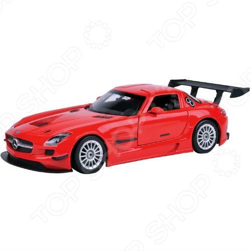 Модель автомобиля 1:24 Motormax Mercedes-Benz SLS АMG GT3 welly 84002 велли радиоуправляемая модель машины 1 24 mercedes benz sls amg