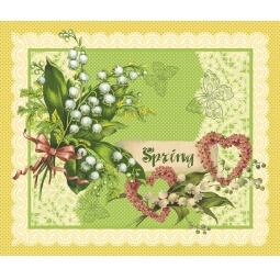 фото Комплект из 3-х кухонных полотенец подарочный ТексДизайн «Весенний букет, Руское поле, Нежность»