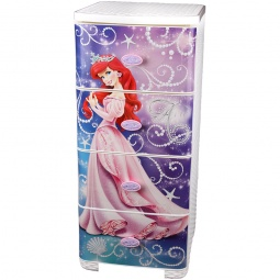 фото Комод 4-х секционный плетеный Альтернатива Disney «Ариэль»