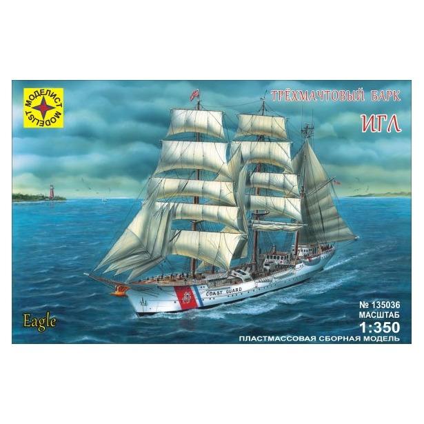 фото Сборная модель морского судна Моделист трехмачтовый барк «Игл»