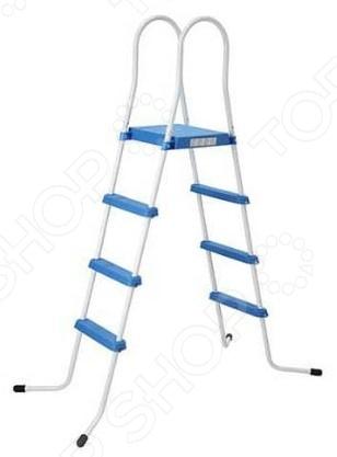 Лестница для бассейна Jilong 3 Step Ladder With PlatformАксессуары для бассейнов<br>Лестница для бассейна Jilong 3 Step Ladder With Platform изделие, которое сделает отдых у бассейна еще более комфортным и приятным. Лестница представлена прочной стальной рамой с противокоррозийным покрытием, ступеньки из пластика. Конструкция надежно располагается на четырех изогнутых ножках со специальными насадками на торцах, предотвращающими скольжение. Лестница подходит для каркасных и надувных бассейнов. Количество ступенек три.<br>