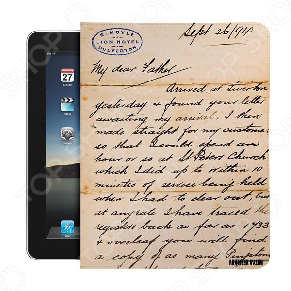 Чехол для iPad Mitya Veselkov «Письмо»Защитные чехлы для планшетов iPad<br>Чехол для iPad Mitya Veselkov Письмо обладает современным оригинальным дизайном, удобен в использовании и приятен на ощупь. Предназначен для тех, кто не представляет жизни без цифровых устройств. Позволяет защитить ваш iPad от повреждений и царапин. Легкая конструкция обеспечивает удобство переноски и беспрепятственный доступ к планшету в любой момент времени.<br>