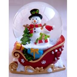 Купить Декорация-шар музыкальная Star Trading «Снеговики в санях»