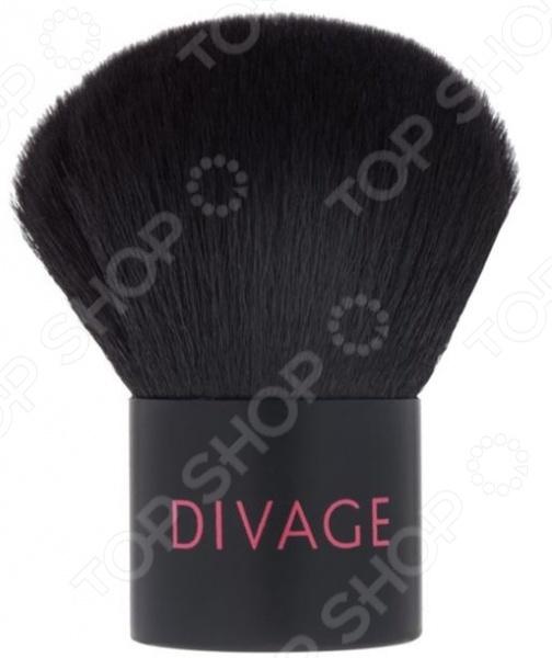 Кисть кабуки из натуральной щетины DIVAGE Professional набор 331 кисть кабуки professional line палетка face strobing eyelash