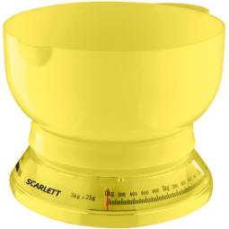фото Весы кухонные Scarlett SC-1210. Цвет: желтый