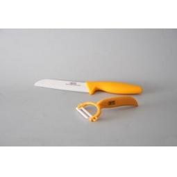 фото Набор Gipfel: нож керамический и нож для чистки овощей с керамическим лезвием. Цвет рукояти: желтый