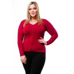 фото Жакет Mondigo XL 9130. Цвет: бордовый. Размер одежды: 48