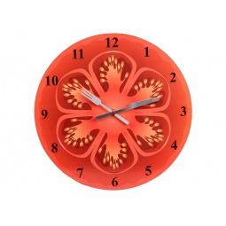 фото Часы настенные POMIDORO «Сочный фрукт». Рисунок: помидор