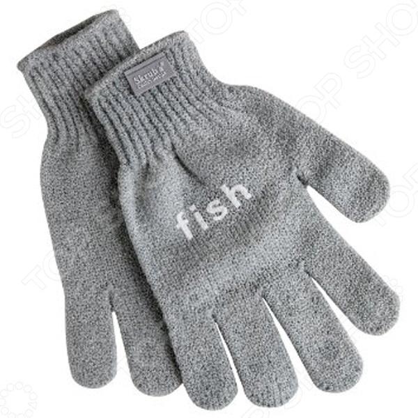 Перчатки Fabrikators для чистки рыбыПерчатки кухонные<br>Перчатки Fabrikators для чистки рыбы - оригинальный и функциональный аксессуар, который займет достойное место на вашей кухне. С помощью этих удивительных перчаток вы без труда очистите любую рыбу. Теперь вам больше не придется использовать острый нож или всевозможные подручные средства, для того чтобы просто почистить рыбку к обеду.<br>