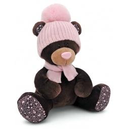 фото Мягкая игрушка Orange сидячая в шапке Milk «Медведь». Размер: 25 см