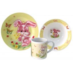 Купить Набор детской посуды Viconte VC-1206 «Зайка»