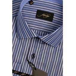 фото Рубашка Mondigo 501038. Цвет: синий. Размер одежды: M