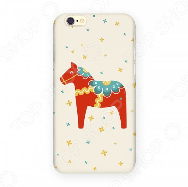 Чехол для iPhone 6 Mitya Veselkov «Скандинавская лошадка» mitya veselkov чехол для iphone 6 скандинавская лошадка