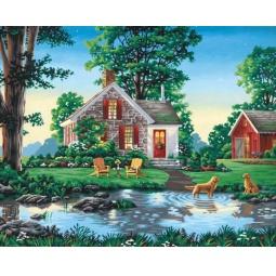 Купить Набор для рисования по номерам Dimensions «Летний коттедж»