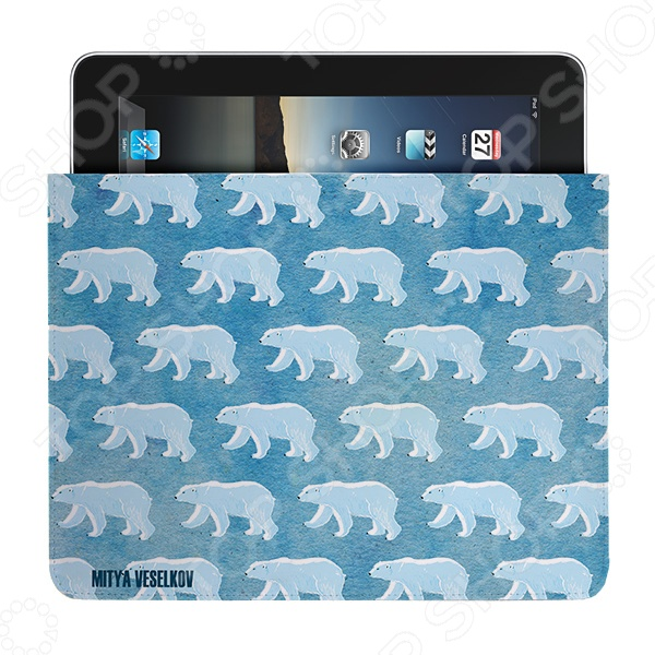 Чехол для iPad Mitya Veselkov «Северные мишки» чехлол для ipad iphone mitya veselkov чехол для ipad райский сад ip 08