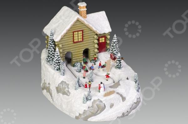 Музыкальная композиция с подсветкой Holiday Classics «Дети на зимней прогулке»