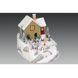 фото Музыкальная композиция с подсветкой Holiday Classics «Дети на зимней прогулке»