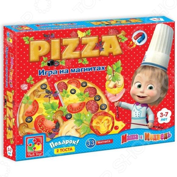 Игра развивающая на магнитах Vladi Toys «Юный повар. Пицца» VT3003-02Магнитные игры<br>Игра развивающая Vladi Toys Юный повар. Пицца VT3003-02 предназначена для таких маленьких, но уже таких любознательных малышей. Внутри упаковки находится набор разнообразных фигурок. Все детали снабжены магнитами, поэтому их легко крепить между собой. Пицца состоит из 4 кусков, каждый из которых можно украсить по своему или приготовить одну большую пиццу. Небольшой размер фигурок позволяет легко брать их маленькими детскими ручками. Игра развивающая Vladi Toys Юный повар. Пицца VT3003-02 изготовлена из материала, который абсолютно безопасен для здоровья ребенка. Она помогает развивать память, наблюдательность и образное восприятие, а также расширять словарный запас. Постоянно манипулируя деталями, кроха улучшает мелкую моторику рук и координацию движений.<br>