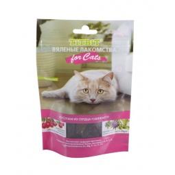 фото Лакомство для кошек TiTBiT 5156 «Вяленые кусочки из сердца говяжьего»