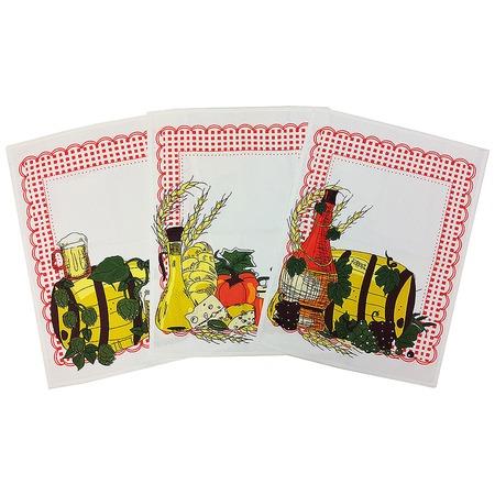 Купить Комплект из 3-х вафельных полотенец BONITA «Натюрморт»