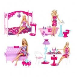 фото Набор: кукла и полный комплект мебели Mattel. В ассортименте
