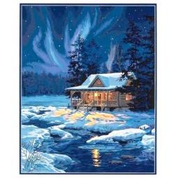 Купить Набор для рисования по номерам Dimensions «Залитая лунным светом хижина»