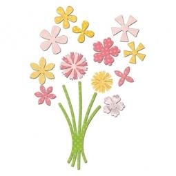 фото Набор форм-трафаретов для вырубки Sizzix Framelits Die Букет цветов