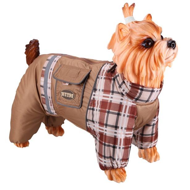 фото Комбинезон-дождевик для собак DEZZIE «Пудель карликовый». Цвет: бежевый. Материал подкладки: синтепон. Пол: сука