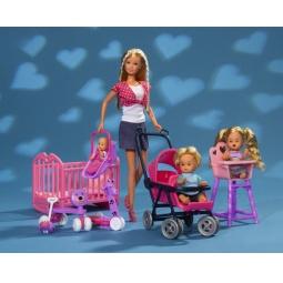 Купить Кукла штеффи с детьми и аксессуарами Simba 5736350. В ассортименте