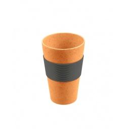 фото Стакан для горячих напитков Lurch с защитной накладкой. Цвет: оранжевый