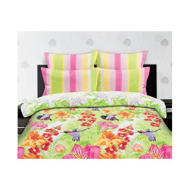 фото Комплект постельного белья Романтика Яркие колибри. 1,5-спальный