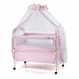 фото Кроватка-трансформер детская Geoby 05TLY900. Цвет: розовый