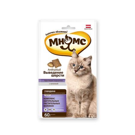 Купить Лакомство для кошек Мнямс «Хрустящие подушечки. Выведение шерсти»