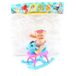 фото Игровой набор Shantou Gepai «Пупс с лошадкой»