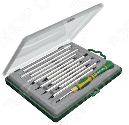 Набор отверток для точных работ с насадками Kraftool 25611-H12 набор отверток kendo для точных работ 7шт