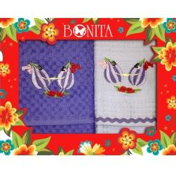 фото Комплект из 2-х махровых вафельных полотенец подарочный BONITA «Дружба»