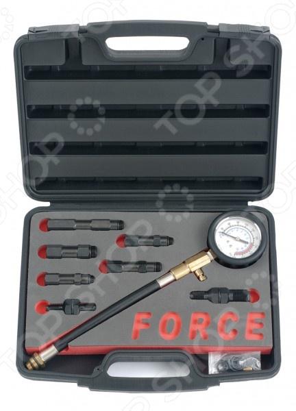 Компрессометр для бензиновых двигателей с насадками Force F-909G1
