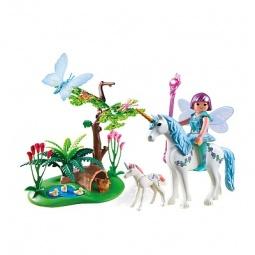 Купить Набор игровой Playmobil «Фея Акварелла на лугу с единорогом»