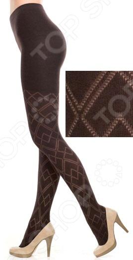 Колготки фантазийные Burlesco R52165. Цвет: коричневый