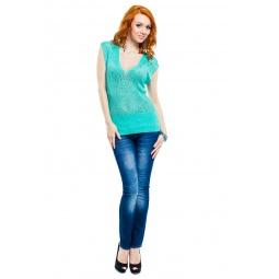 фото Кофта Mondigo 9492. Цвет: бирюзовый. Размер одежды: 46
