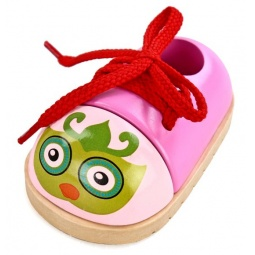 фото Игра развивающая для малыша Mapacha «Шнуровка-ботиночек. Совушка»