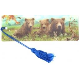 фото 3D-закладка для книг Липуня «Медведи»